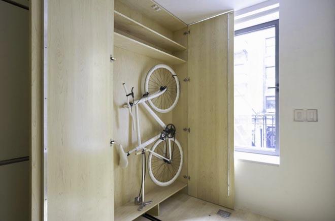 шкаф для хранения велосипеда